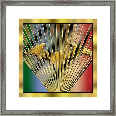 Bat Rays - Chuck Staley Framed Print by Chuck Staley