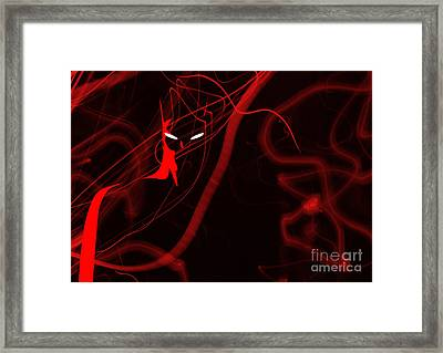 Bat Red - Beware The Batman Framed Print by Prar Kulasekara