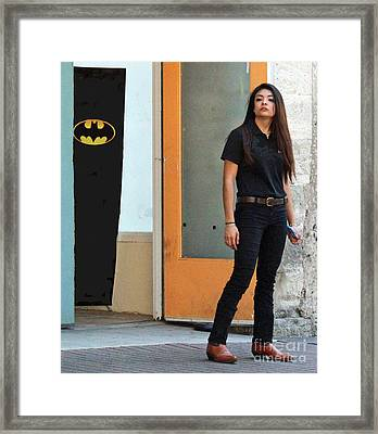 Bat Woman Framed Print by Joe Jake Pratt