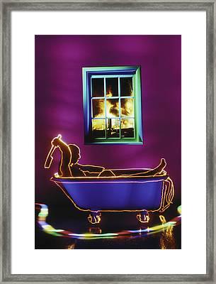 Bath Framed Print by Garry Gay