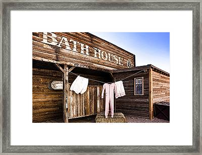 Bath House In Old Tucson Framed Print by Wendy White