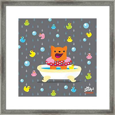 Bath Time  Framed Print by Seedys