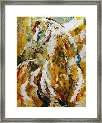 Bathed In Gold Framed Print by Laurie Pace