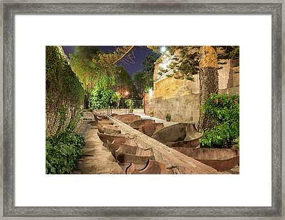 Bathing Area In Santa Catalina Monastery Framed Print by Jess Kraft