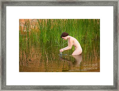 Bathing Beauty Framed Print by Inge Johnsson