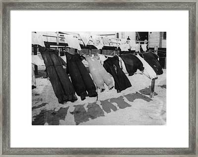 Bathing Bloomers Framed Print by F J Mortimer