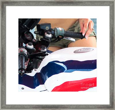 Bathing Honda Framed Print by Steven  Digman