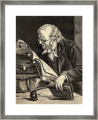 Bathold George Niebuhr, 1776-1831 Framed Print by Vintage Design Pics