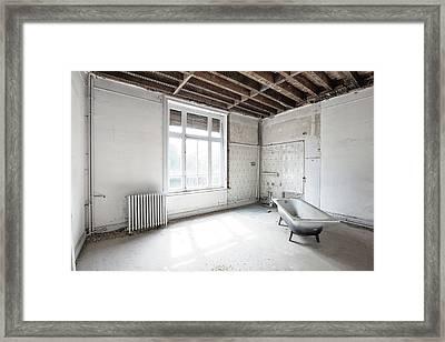 Bathroom Light - Urban Exploration Framed Print by Dirk Ercken