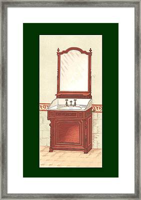 Bathroom Picture Wash Stand One Framed Print by Eric Kempson