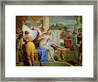 Bathsheba Bathing Framed Print by Sebastiano Ricci