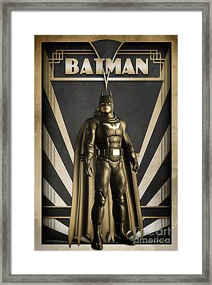 Batman Art Deco Framed Print by Luca Oleastri