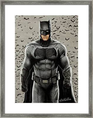 Batman Ben Affleck Framed Print by David Dias