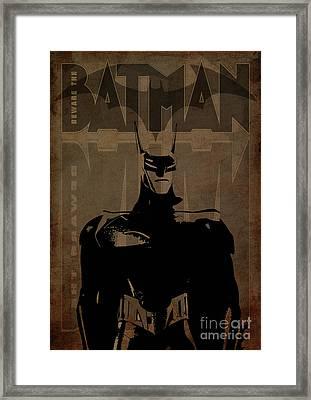 Batman Brown - Logo Bat Framed Print by Prar Kulasekara