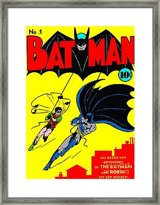 Batman Number One Framed Print by Pd