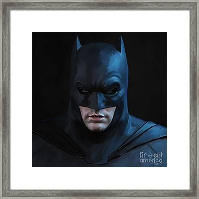 Batman Framed Print by Paul Tagliamonte