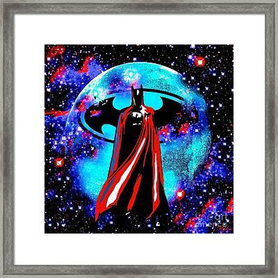 Batman Framed Print by Saundra Myles