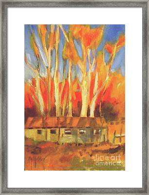 Batsto Coop Framed Print by Mary Hubley