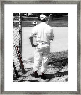 Batter On Deck  Framed Print by Steven  Digman