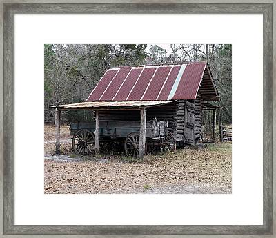 Battered Barn - Digital Art Framed Print by Al Powell Photography USA