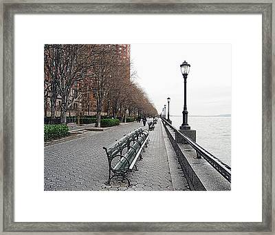 Battery Park Framed Print by Michael Peychich