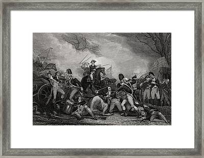 Battle At Princeton New Jersey Usa 1775 Framed Print by Vintage Design Pics