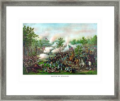 Battle Of Atlanta Framed Print by War Is Hell Store