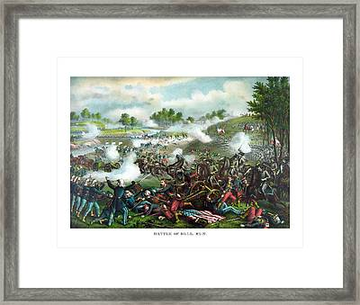 Battle Of Bull Run Framed Print by War Is Hell Store