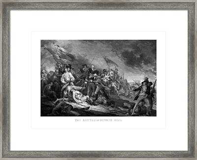 Battle Of Bunker Hill Framed Print by War Is Hell Store
