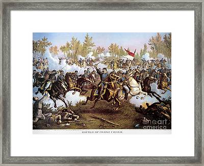Battle Of Cedar Creek 1864 Framed Print by Granger