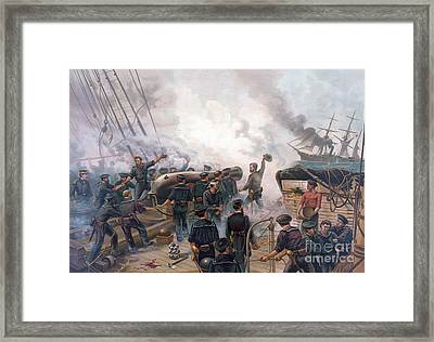Battle Of Cherbourg Framed Print by Julian Oliver Davidson