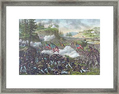 Battle Of Chickamauga Framed Print by American School