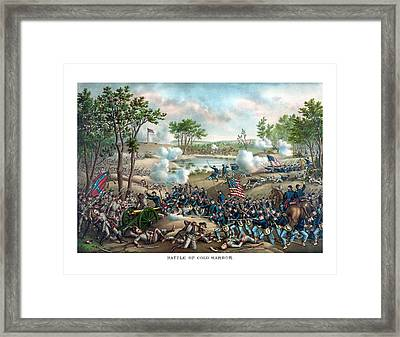 Battle Of Cold Harbor Framed Print by War Is Hell Store