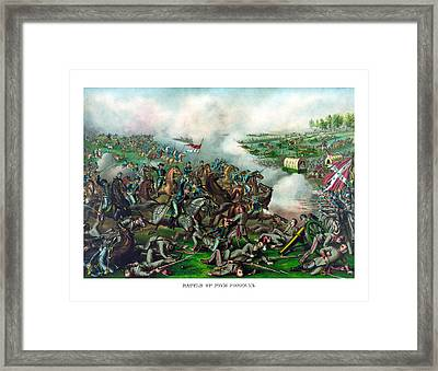 Battle Of Five Forks Framed Print by War Is Hell Store