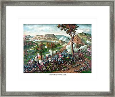 Battle Of Missionary Ridge Framed Print by War Is Hell Store