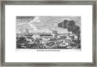 Battle Of Plattsburg, 1814 Framed Print by Granger