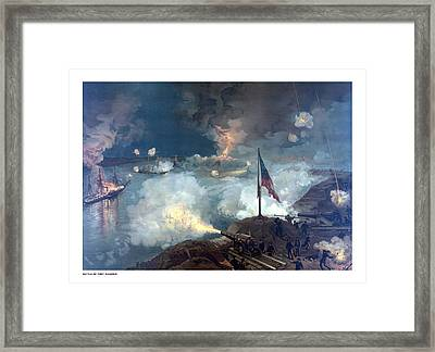 Battle Of Port Hudson Framed Print by War Is Hell Store