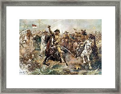 Battle Of San Juan Hill, 1898 Framed Print by Science Source