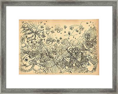 Battle Of The Bees Framed Print by Reynold Jay
