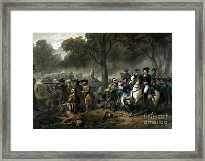 Battle Of The Monongahela, 1755 Framed Print by Science Source