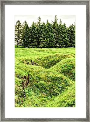 Battle Of The Somme Trench At Beaumont-hamel - Vintage Version Framed Print by Weston Westmoreland