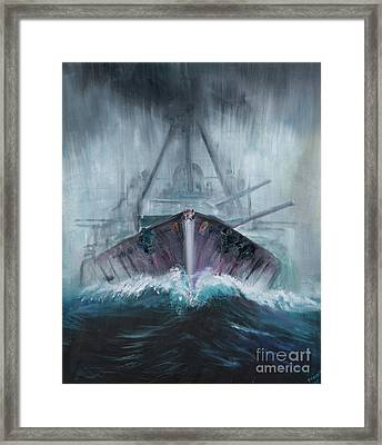 Battlecruiser Derfflinger  1918 Framed Print by Vincent Alexander Booth