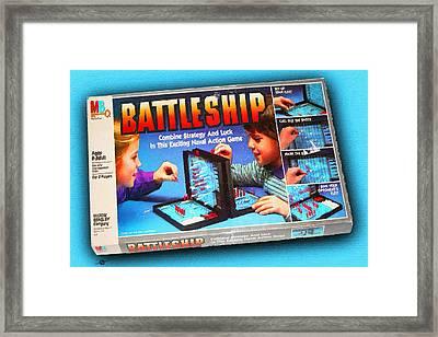 Battleship Board Game Painting  Framed Print by Tony Rubino