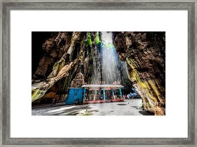 Batu Cave Sunlight Framed Print by Adrian Evans