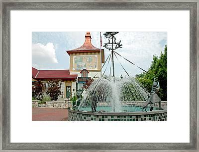 Bavarian Fountain Town Square Framed Print by LeeAnn McLaneGoetz McLaneGoetzStudioLLCcom