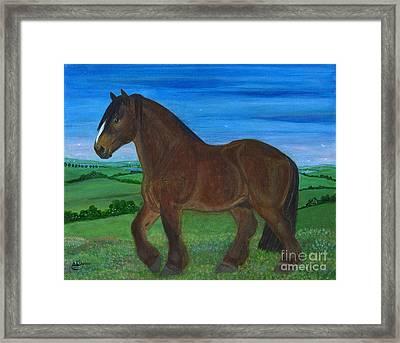Bay Horse Framed Print by Anna Folkartanna Maciejewska-Dyba