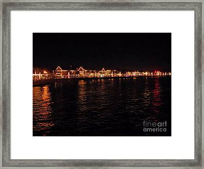 Bay View Of Nights Of Light Framed Print by D Hackett