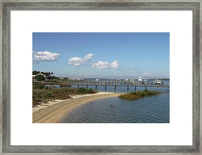 Bayfront St. Augustine Framed Print by Christiane Schulze Art And Photography