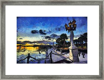 Bayfront Sunrise Framed Print by Stacey Sather