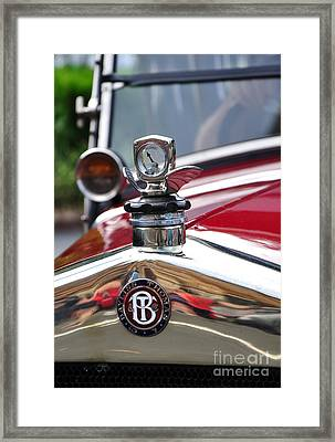 Bayliss Thomas Badge And Hood Ornament Framed Print by Kaye Menner